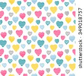 seamless vector pattern with... | Shutterstock .eps vector #349018757