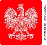 polish coat of arm | Shutterstock .eps vector #349038287
