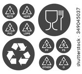 marking of plastic utensils... | Shutterstock . vector #349045037