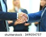 business handshake. business... | Shutterstock . vector #349054757