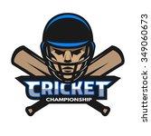 cricket player and bats. sport... | Shutterstock .eps vector #349060673