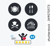 plate dish with forks and... | Shutterstock .eps vector #349070573