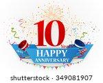 happy anniversary celebration... | Shutterstock . vector #349081907