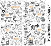 mega doodle design elements... | Shutterstock .eps vector #349082537