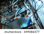 lan cable in network room  | Shutterstock . vector #349086377