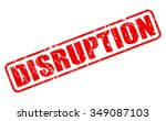disruption red stamp text on... | Shutterstock .eps vector #349087103