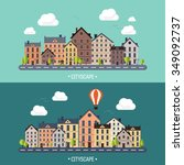 vector illustration. city... | Shutterstock .eps vector #349092737