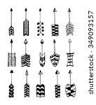 arrow clip art set in vector on ... | Shutterstock .eps vector #349093157