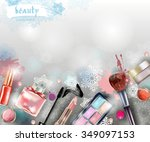 cosmetics and fashion ... | Shutterstock .eps vector #349097153