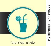 vector glass of juice icons    Shutterstock .eps vector #349108883