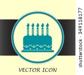 vector icon cake | Shutterstock .eps vector #349118177