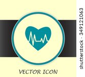 heart pulse icon | Shutterstock .eps vector #349121063