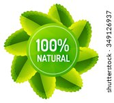 green eco concept   100... | Shutterstock .eps vector #349126937
