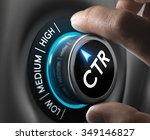 hand turning a ctr knob on the... | Shutterstock . vector #349146827
