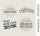 merry christmas and happy new... | Shutterstock .eps vector #349150127