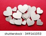 White Paper Hearts On Dark Pin...