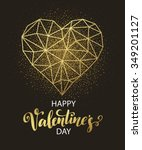 valentines day love greeting... | Shutterstock .eps vector #349201127