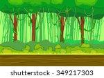 cartoon horizontal landscape ... | Shutterstock .eps vector #349217303