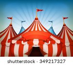 big top circus tents with... | Shutterstock .eps vector #349217327