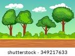 cartoon seamless horizontal... | Shutterstock .eps vector #349217633