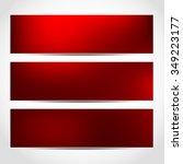 set of trendy christmas red... | Shutterstock . vector #349223177