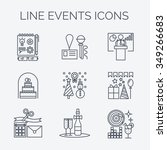 thin line icons of events and... | Shutterstock .eps vector #349266683