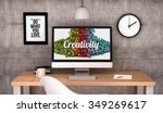 digital generated workspace... | Shutterstock . vector #349269617