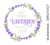 the lavender elegant card with... | Shutterstock .eps vector #349271417