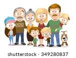 very adorable big family... | Shutterstock .eps vector #349280837