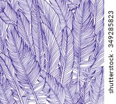feather background  hand drawn...   Shutterstock .eps vector #349285823