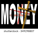 word money with red  cross... | Shutterstock . vector #349298807