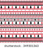 christmas seamless pattern | Shutterstock .eps vector #349301363