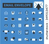 email  message  mail  icons ... | Shutterstock .eps vector #349313477