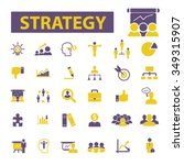 strategy  icons  signs vector... | Shutterstock .eps vector #349315907
