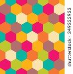 vector modern seamless colorful ... | Shutterstock .eps vector #349322933