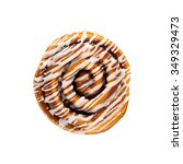 cinnamon rolls on a white... | Shutterstock . vector #349329473