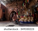 marrakech  morocco   october 27 ... | Shutterstock . vector #349330223