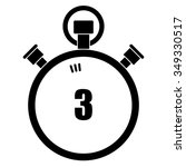 stopwatch vector icon  3 seconds | Shutterstock .eps vector #349330517