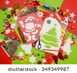 arts and craft supplies for... | Shutterstock . vector #349349987