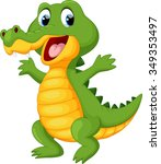 Happy Fun Crocodile Cartoon
