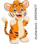 cartoon cute tiger | Shutterstock . vector #349359677