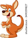 cartoon fun kangaroo | Shutterstock . vector #349359827
