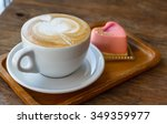 close up cup of coffee  latte... | Shutterstock . vector #349359977
