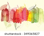 abstract background with leaves ... | Shutterstock .eps vector #349365827