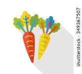 vegetable radish flat icon | Shutterstock .eps vector #349367507