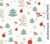 christmas pattern | Shutterstock .eps vector #349379393