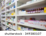 pharmacy store drugs shelves... | Shutterstock . vector #349380107