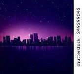 night city skyline. cityscape... | Shutterstock . vector #349399043