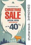 christmas sale. vector banner | Shutterstock .eps vector #349405403