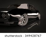 3d illustration of black tuned... | Shutterstock . vector #349428767